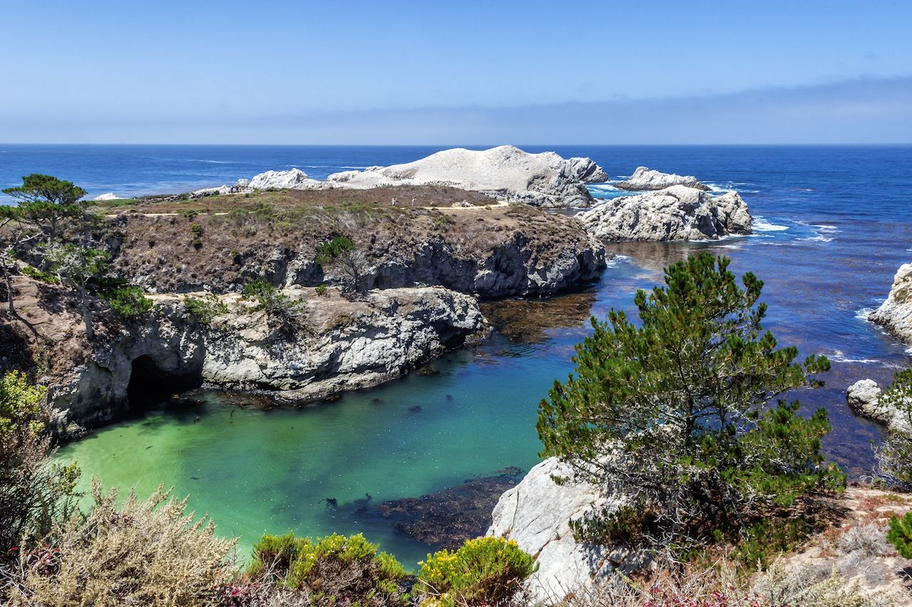 Point Lobos in Monterey Bay, California during whale watching season