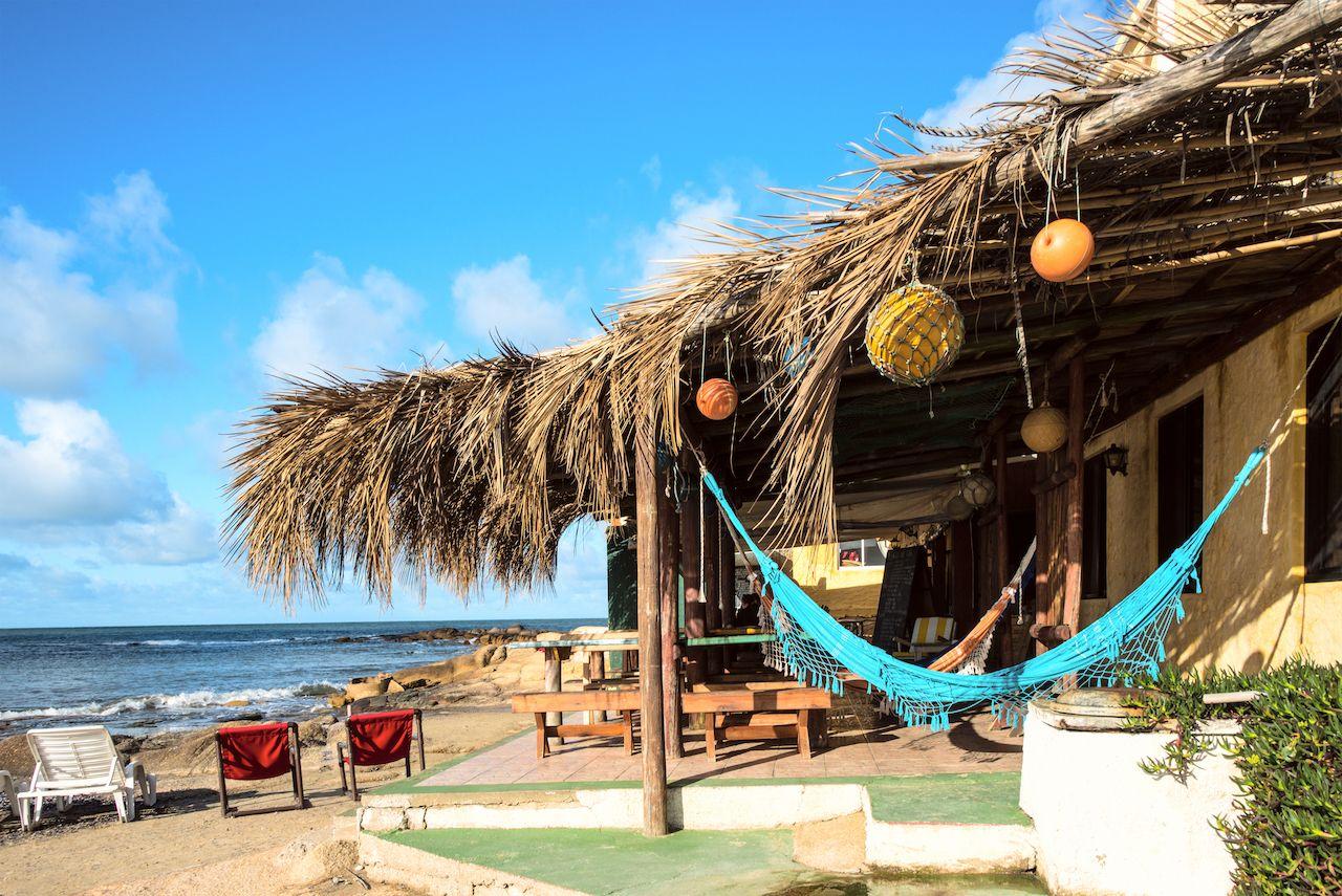 Cabins and hammocks, Cabo Polonio