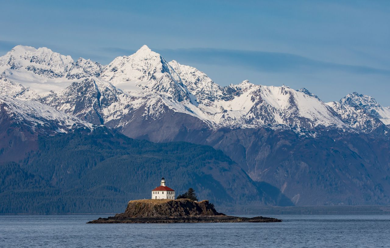 The Eldred Rock Lighthouse is an historic octagonal lighthouse adjacent to the Lynn Canal, Haines, Alaska