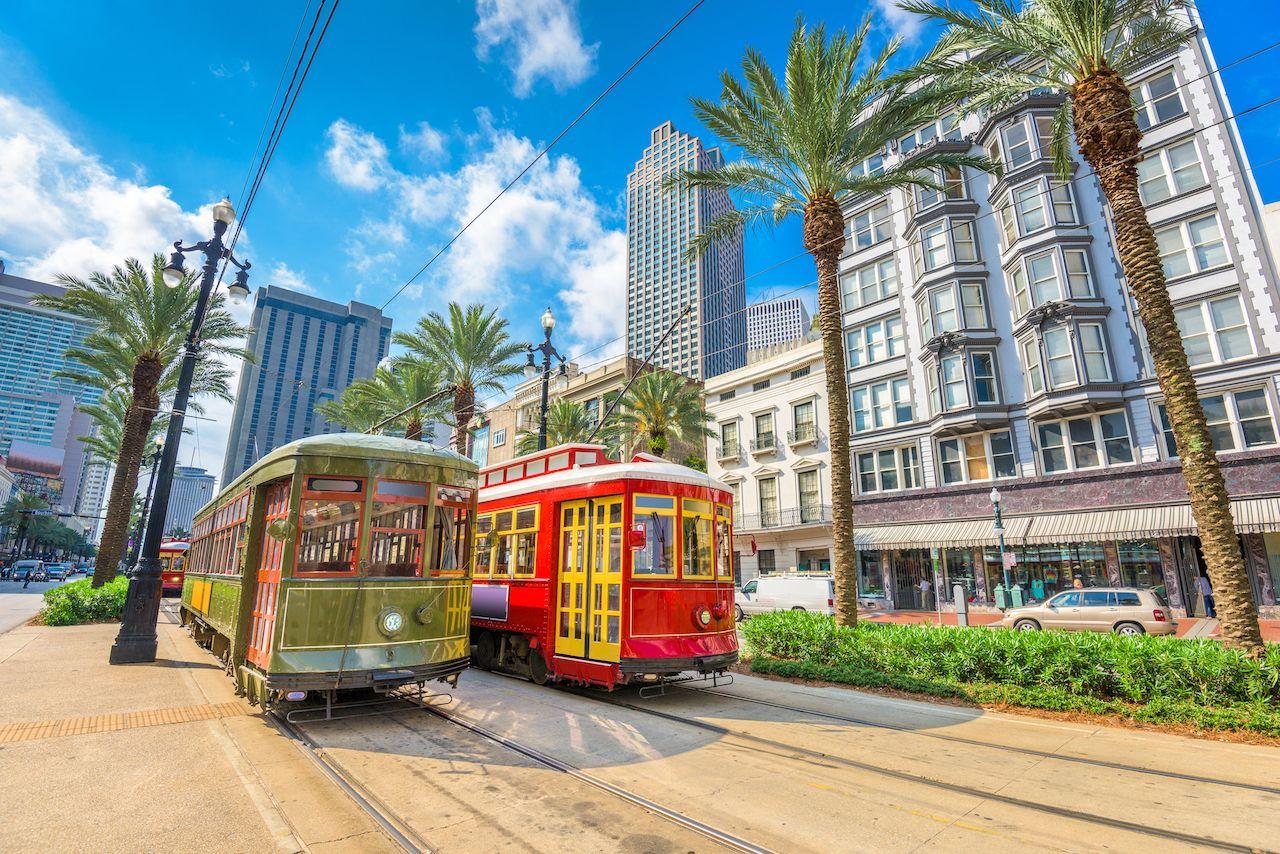 New Orleans, Louisiana, USA street cars,  Louisiana slang