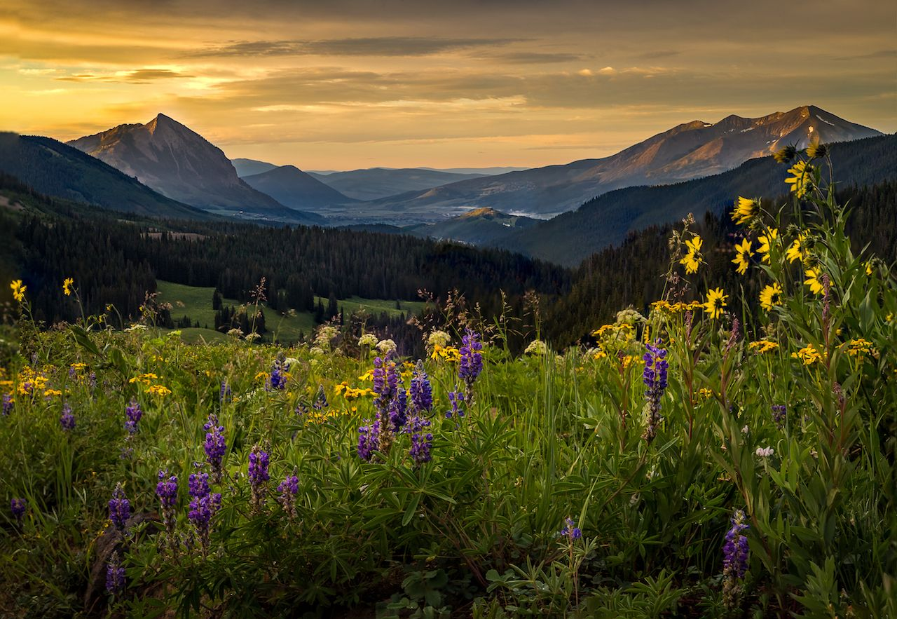 Crested Butte at sunrise