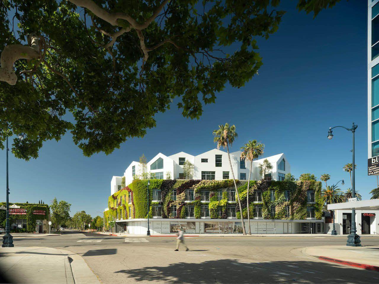 Gardenhouse greenwall Beverly Hills Los Angeles