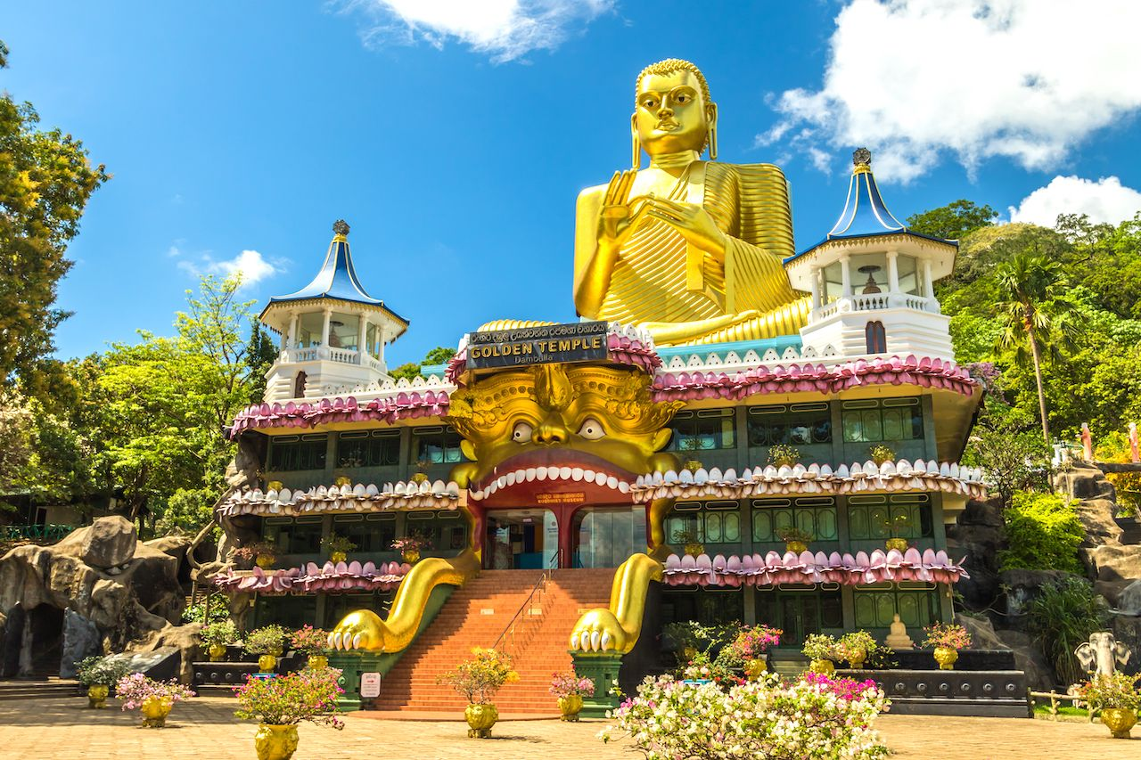 Golden Temple in Dambulla Sri Lanka