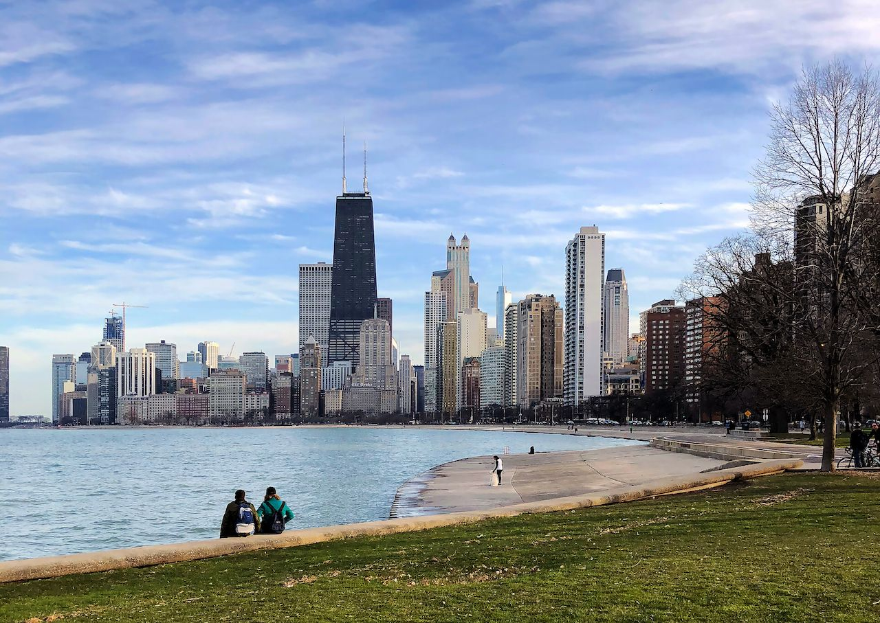 Lake Michigan shoreline makes Chicago one of the best places to visit in fall in the US
