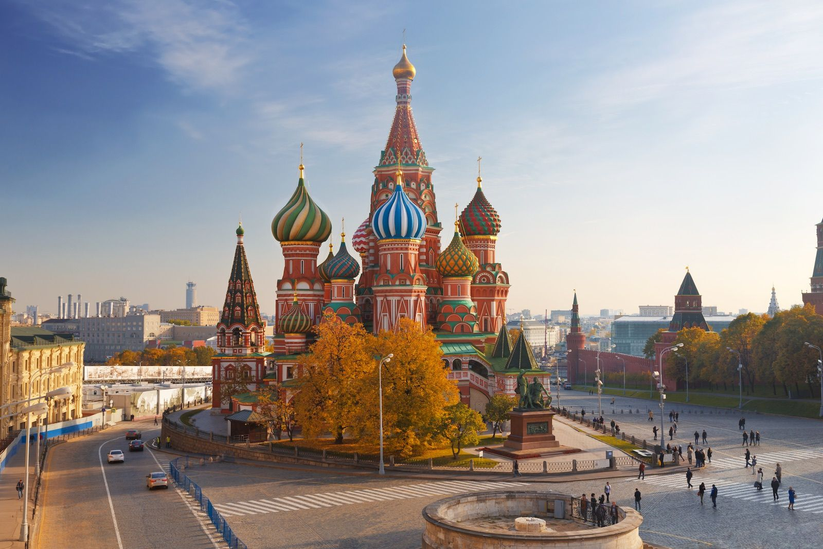 Saint Basil Cathedral Moscow Russia cityscape