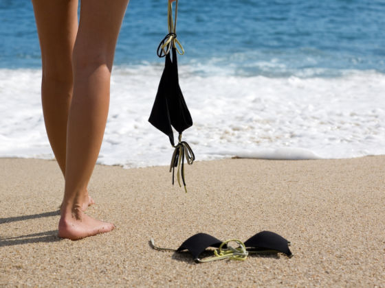 On beach nude the Mature Women