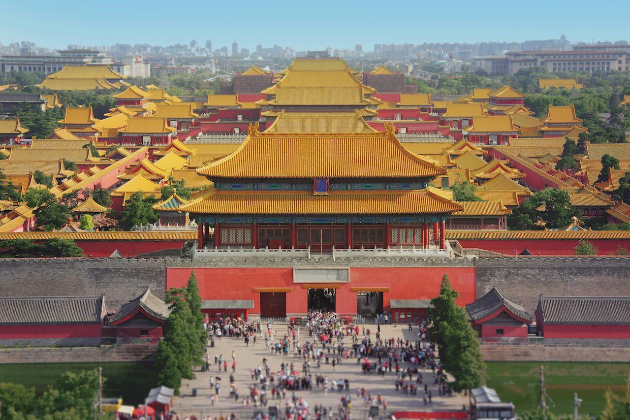 Forbidden city in Beijing from above