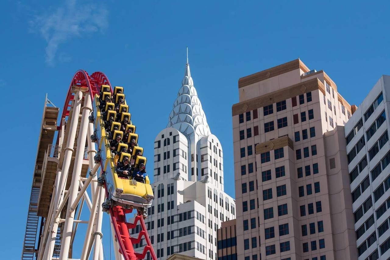 Roller Coaster at New York New York Hotel in Las Vegas