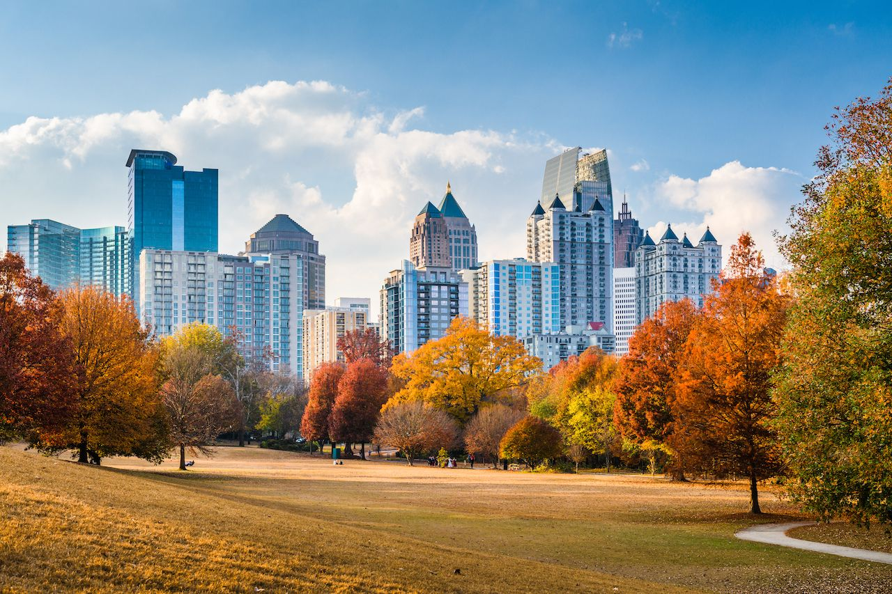 Atlanta in the fall is one of the best vacations in the US for hiking