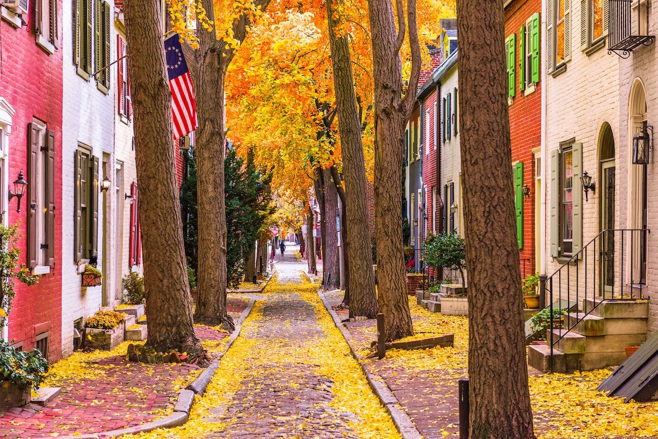 Philadelphia is one of the best places to visit in fall for outdoor adventures