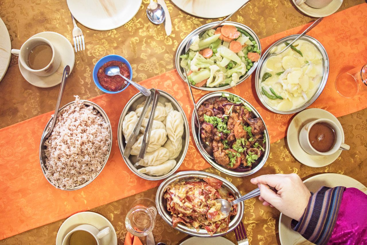 what does diet of bhutan