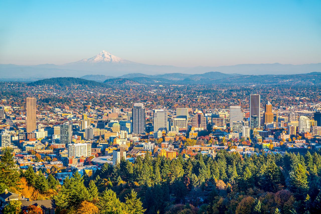 With nearby mountains, trails, coast, and vineyards, Portland, Oregon is one of the best places to visit in fall