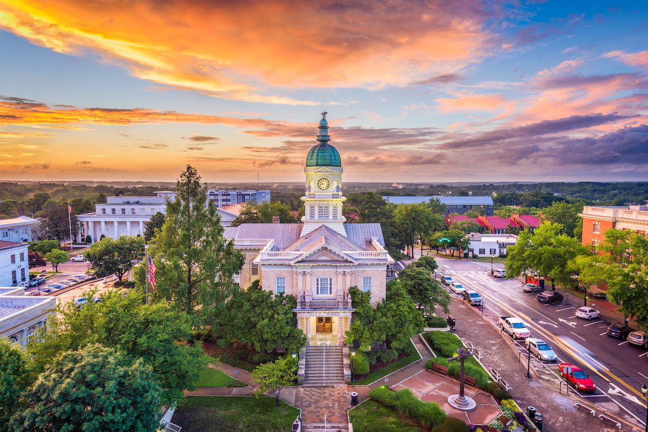 Cityscape of Athens, Georgia, best towns in georgia