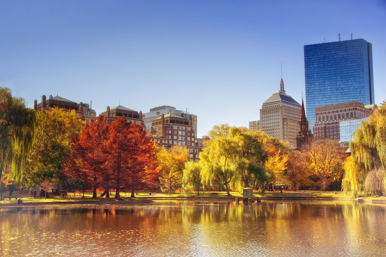 Boston is one of the best cities to visit in the fall for outdoor attractions