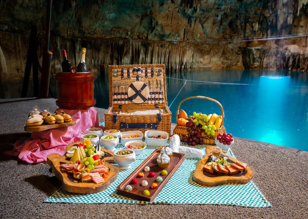 Have a gourmet picnic 60 feet underground in a Mexican cenote