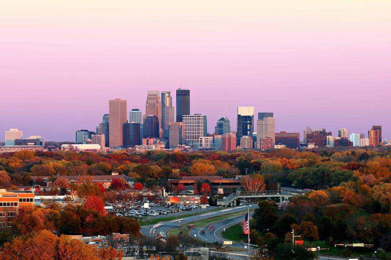 Minneapolis has the second-highest park score in the US, making it one of the best places to visit in fall for outdoor activities