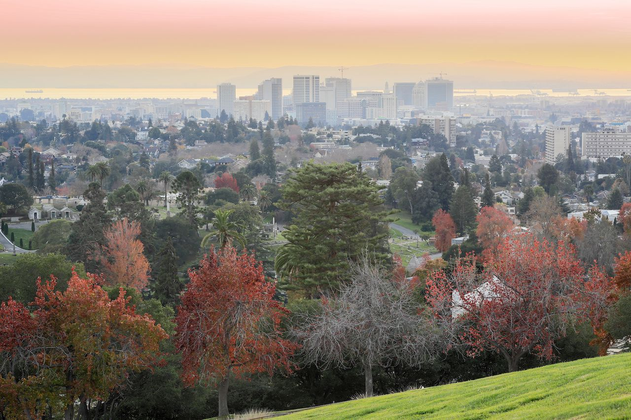 Oakland, California is the best place to visit in fall for outdoor activities