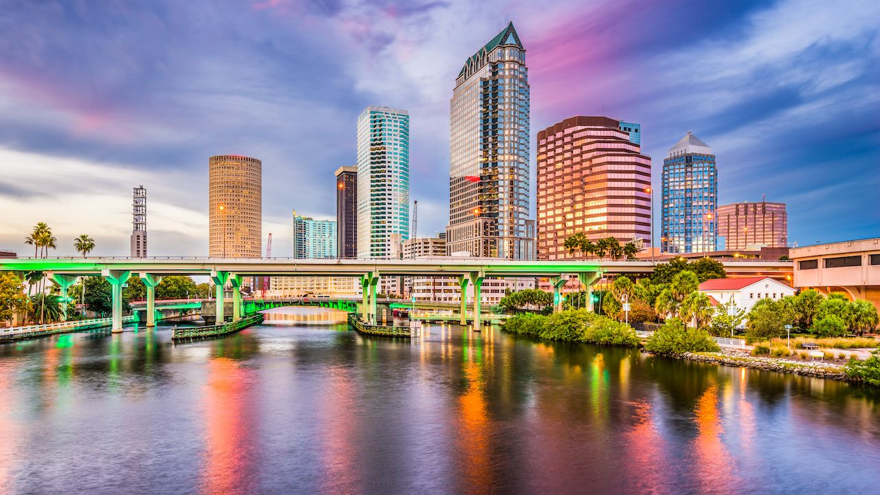 Tampa, Florida is one of the best places to visit in the fall for beaches and parks