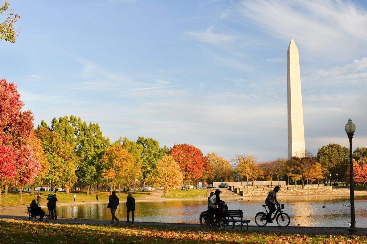 Washington, DC's urban trails make it one of the best fall vacations in the US