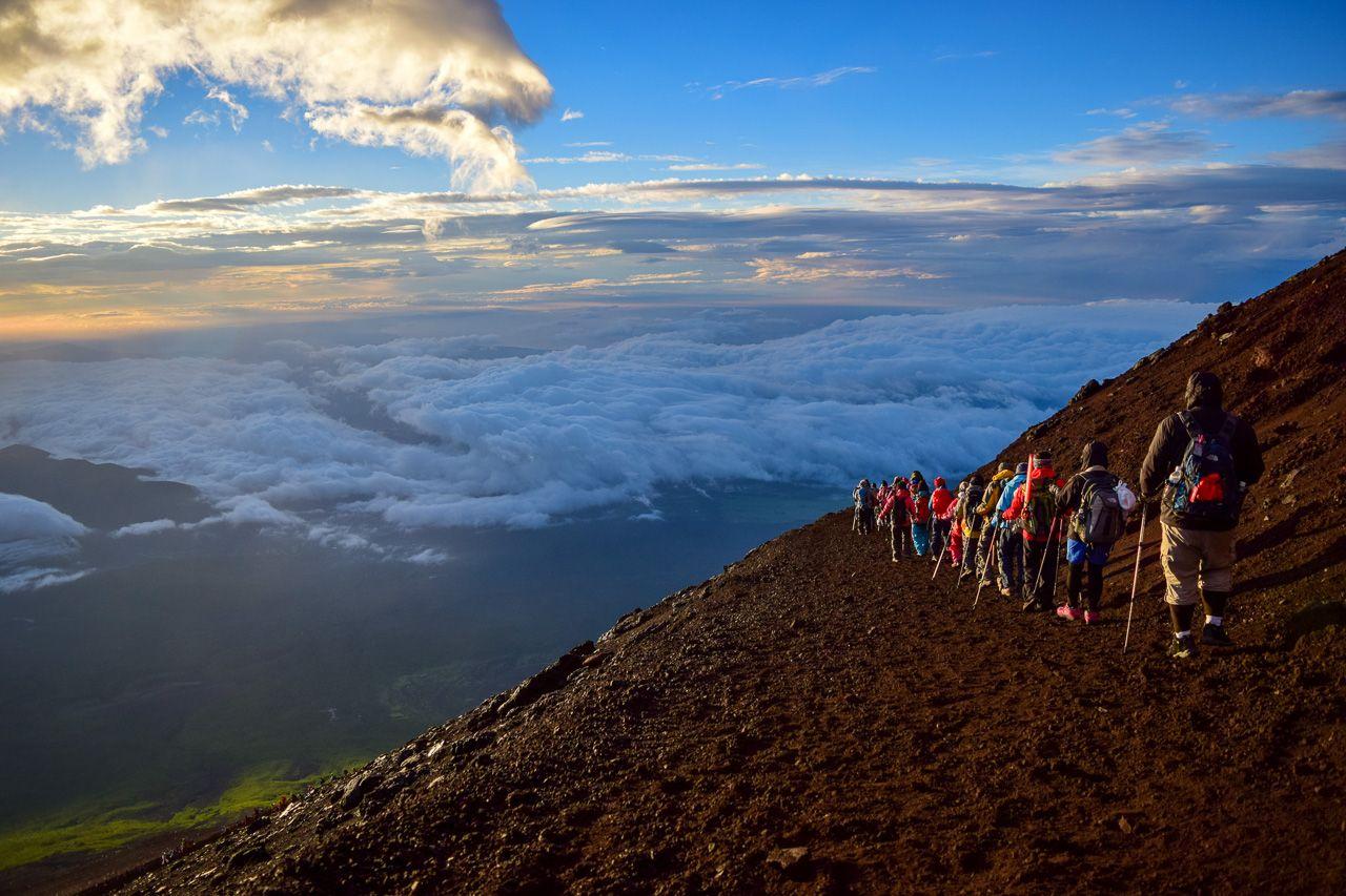 Mt.Fuji climbing; Shutterstock ID 347158025; Purchase Order: ANA 2019 SP2