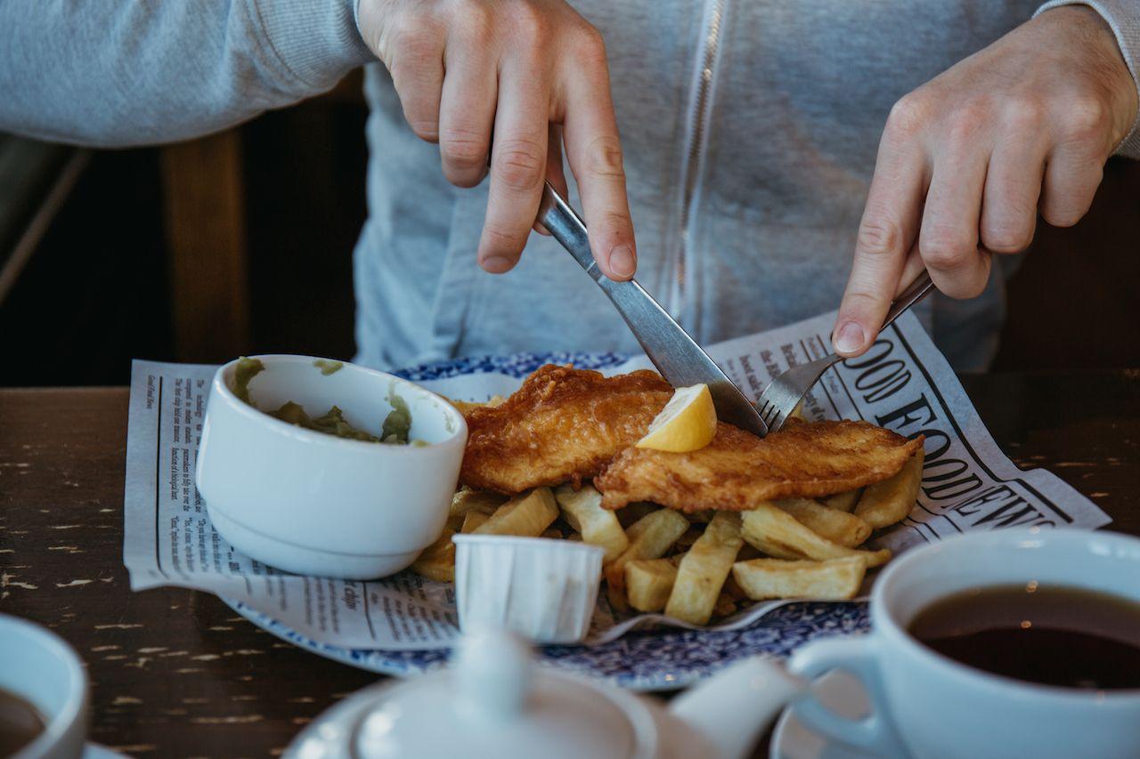 Fish and chips white fish
