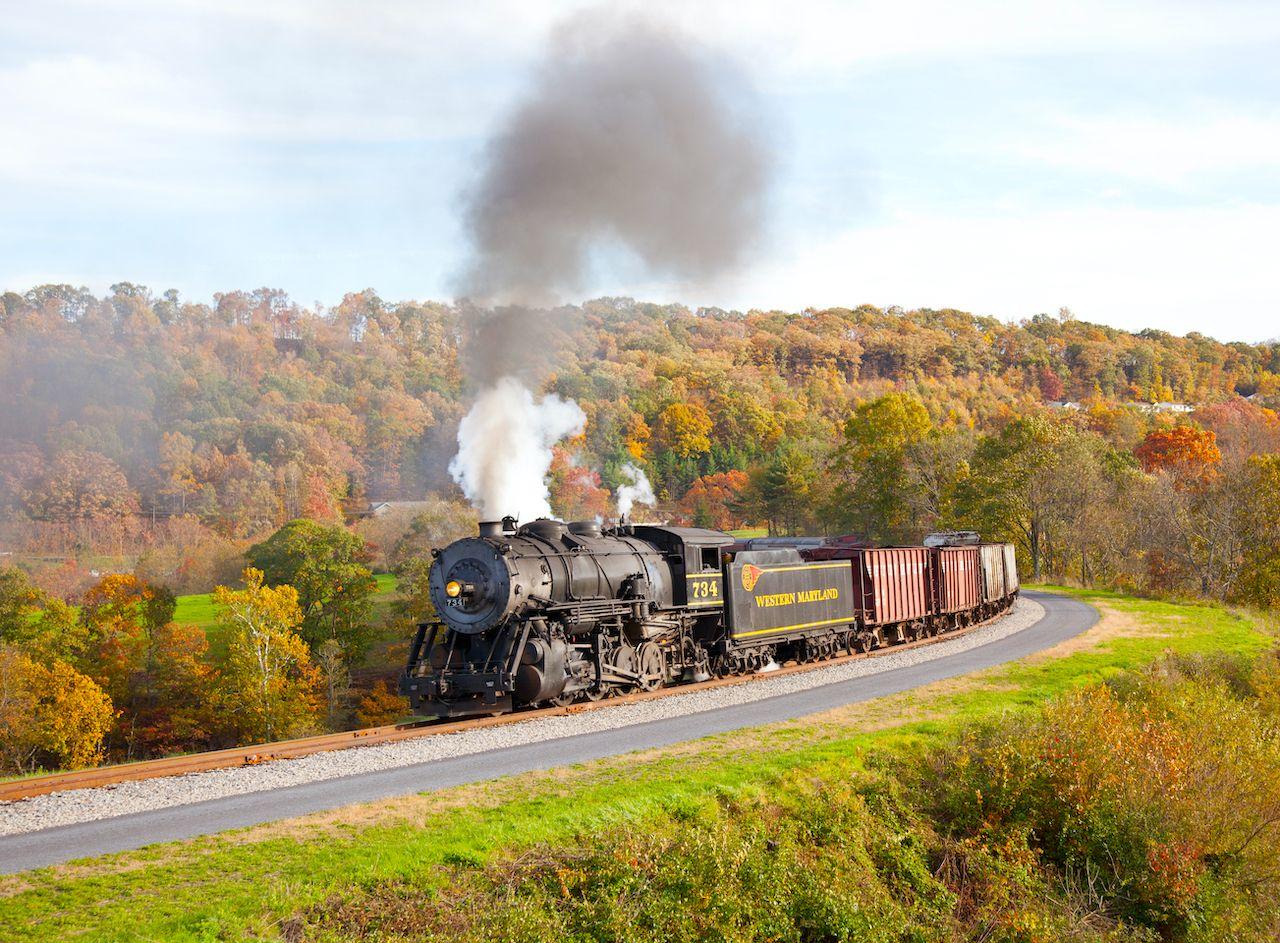The Western Maryland Scenic Railroad fall train ride