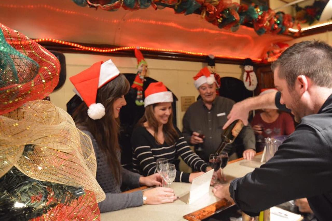 Celebrating Christmas on the Grapevine Wine Train in Texas