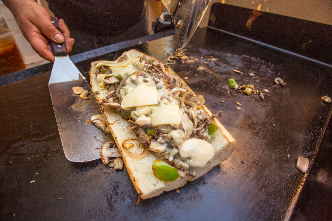 philly cheesesteak, new jersey sandwiches