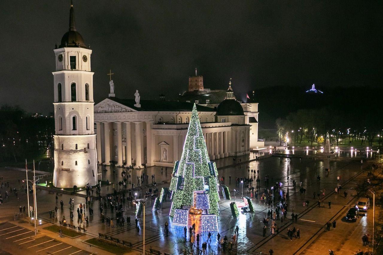 Vilnius Christmas tree christmas trees around the world