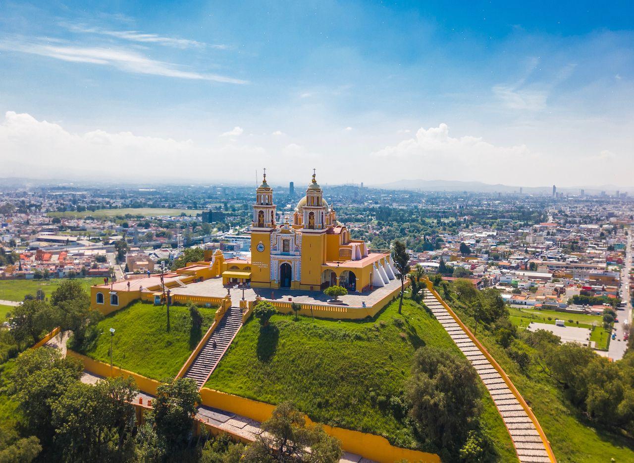 aerial view of Puebla Mexico