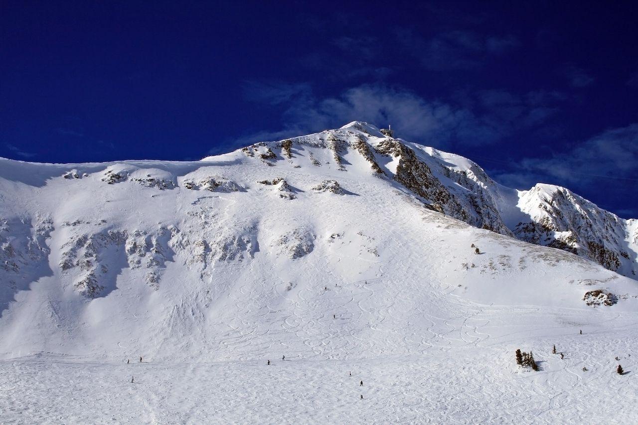 Skiing Big Sky, MT