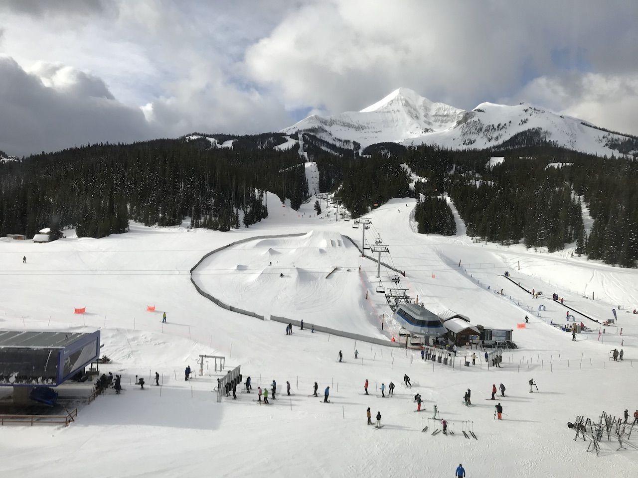 Ski slopes at Big Sky in Montana
