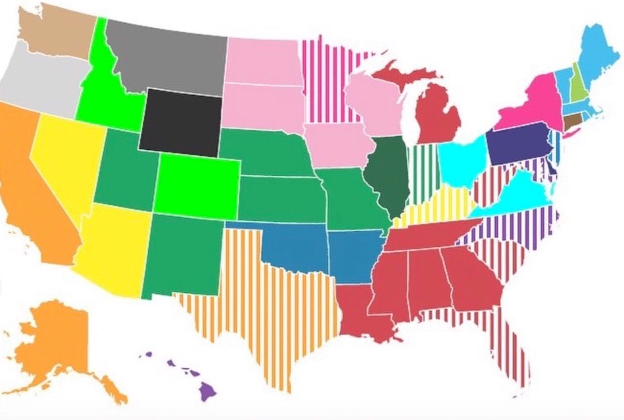 Picture of: Map Of Every Us State S Favorite State
