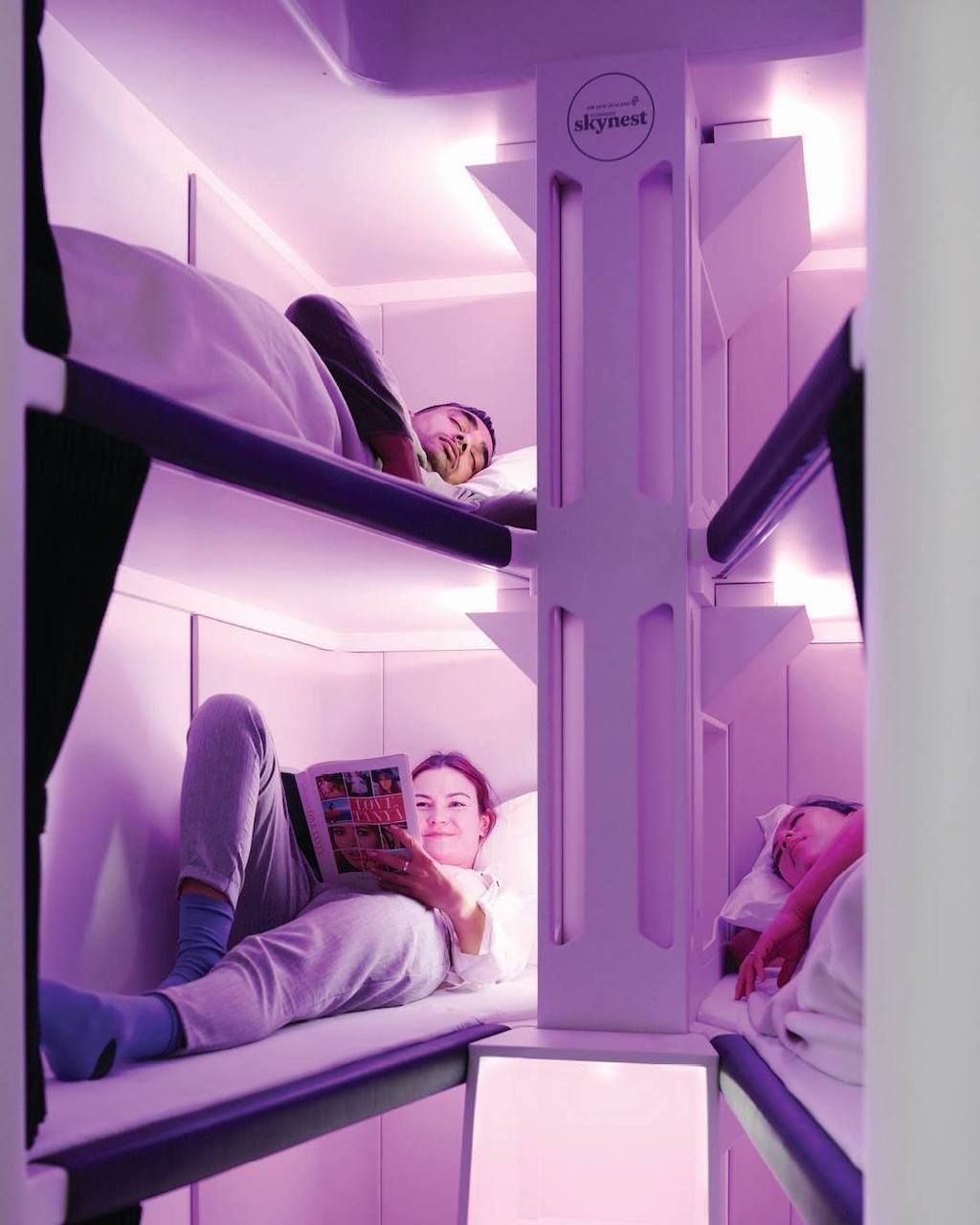 Sleeper pods in Air New Zealand