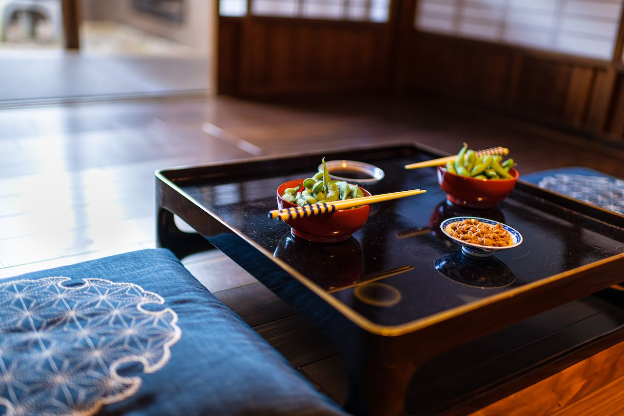 Traditional Japanese restaurant ryokan kaiseki