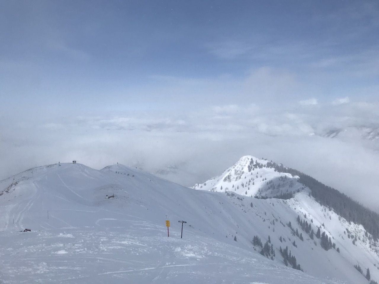 Skiing heart attack hill at the Aspen Highlands bowl