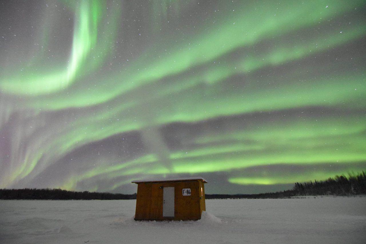 The northern lights over Fairbanks