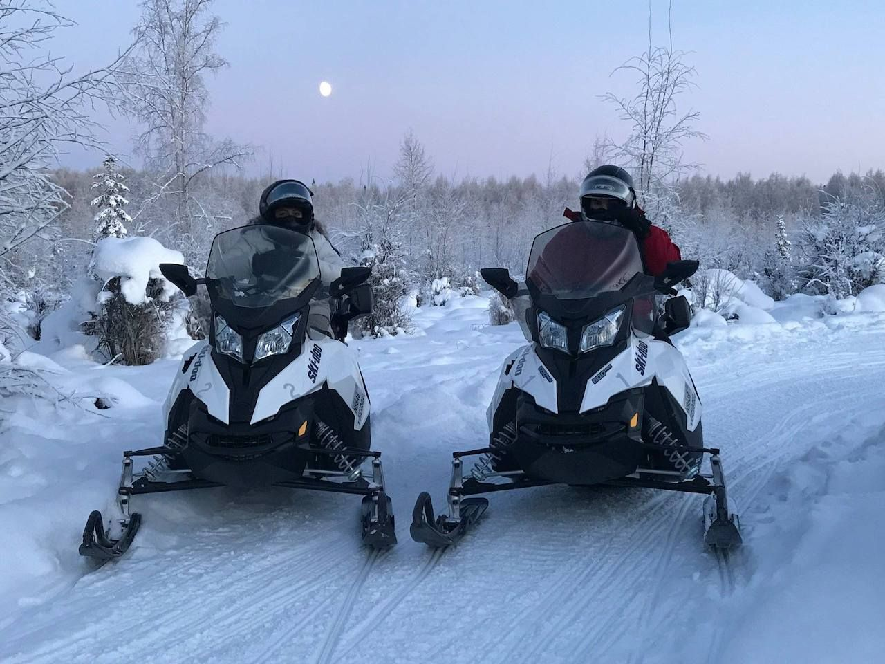 Snowmobiling near Fairbanks, Alaska