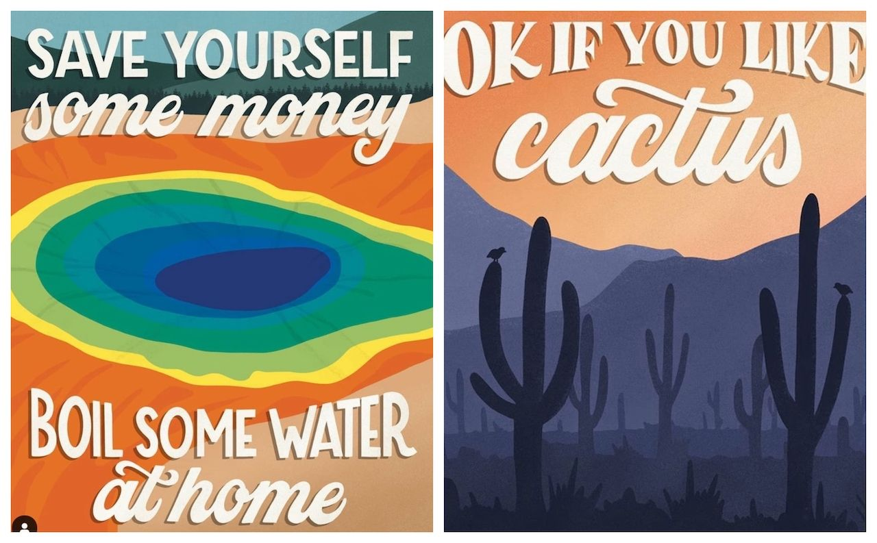 National Park Posters Illustrating Bad Reviews