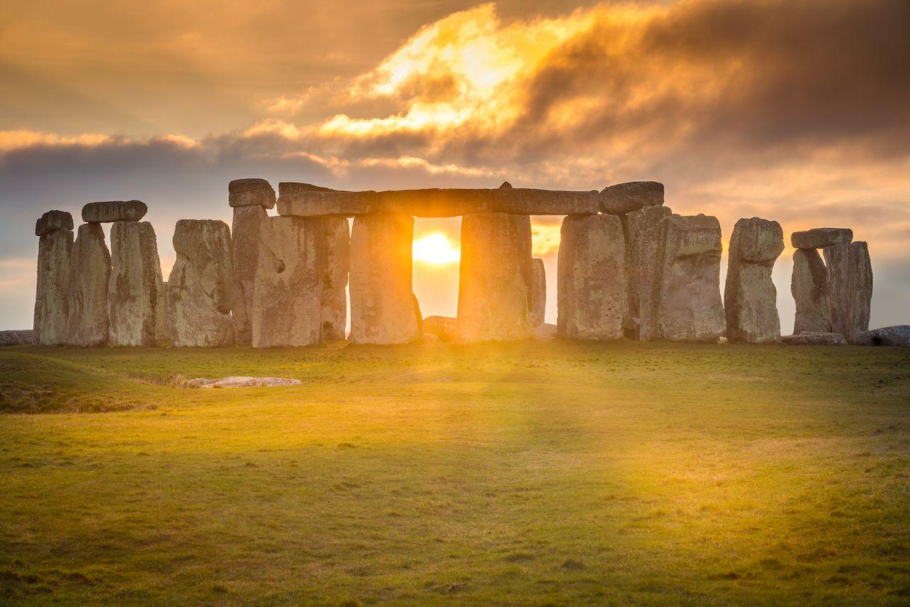 Stonehenge during solstice