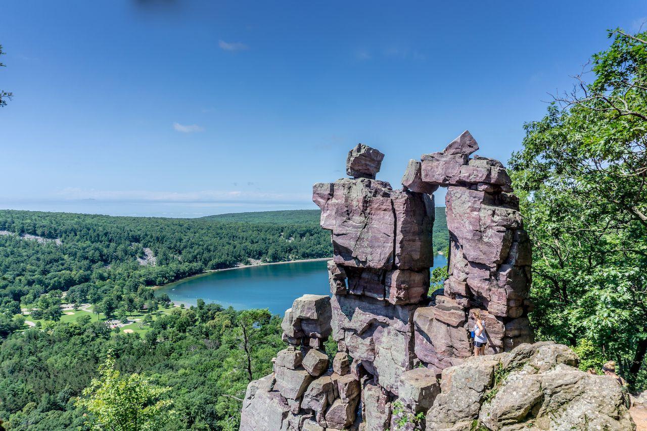 Balanced Rock Trail at Devil's Lake State Park