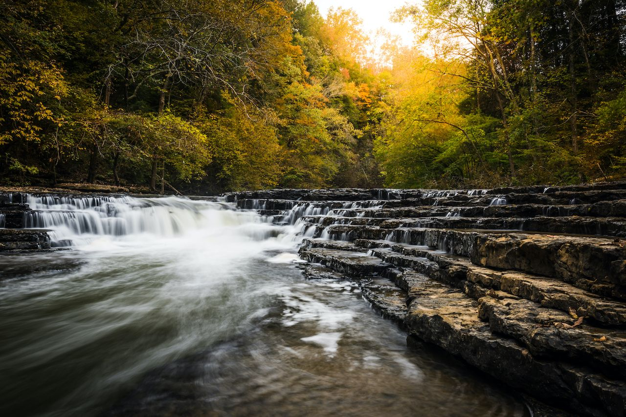 Burgess Falls in Sparta, TN is one of the best waterfalls in the US
