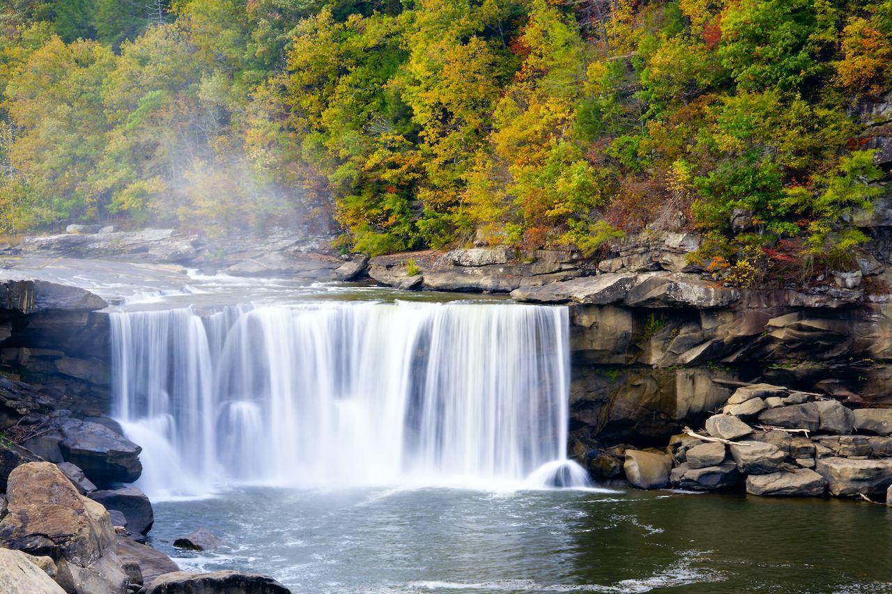 Kentucky's Cumberland Falls in the autumn