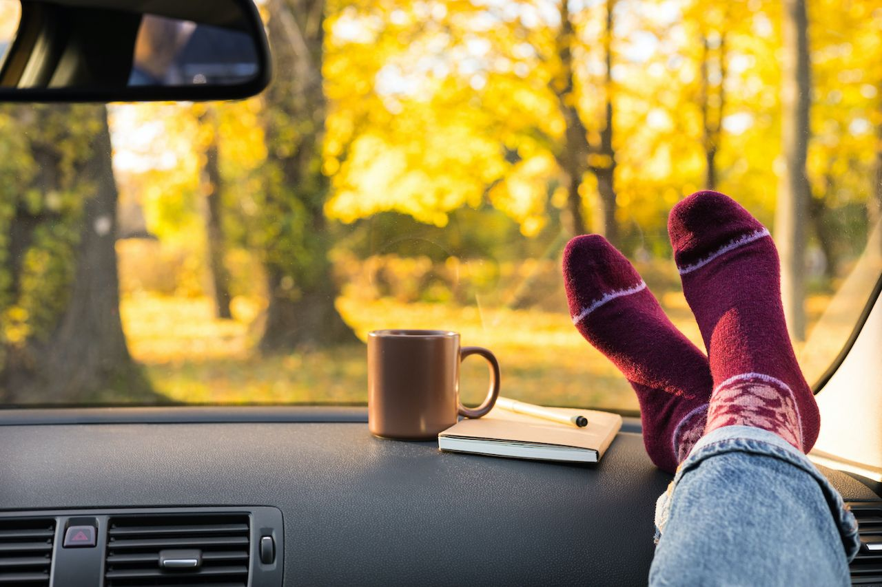 Fall road trip ideas for keeping the car cozy