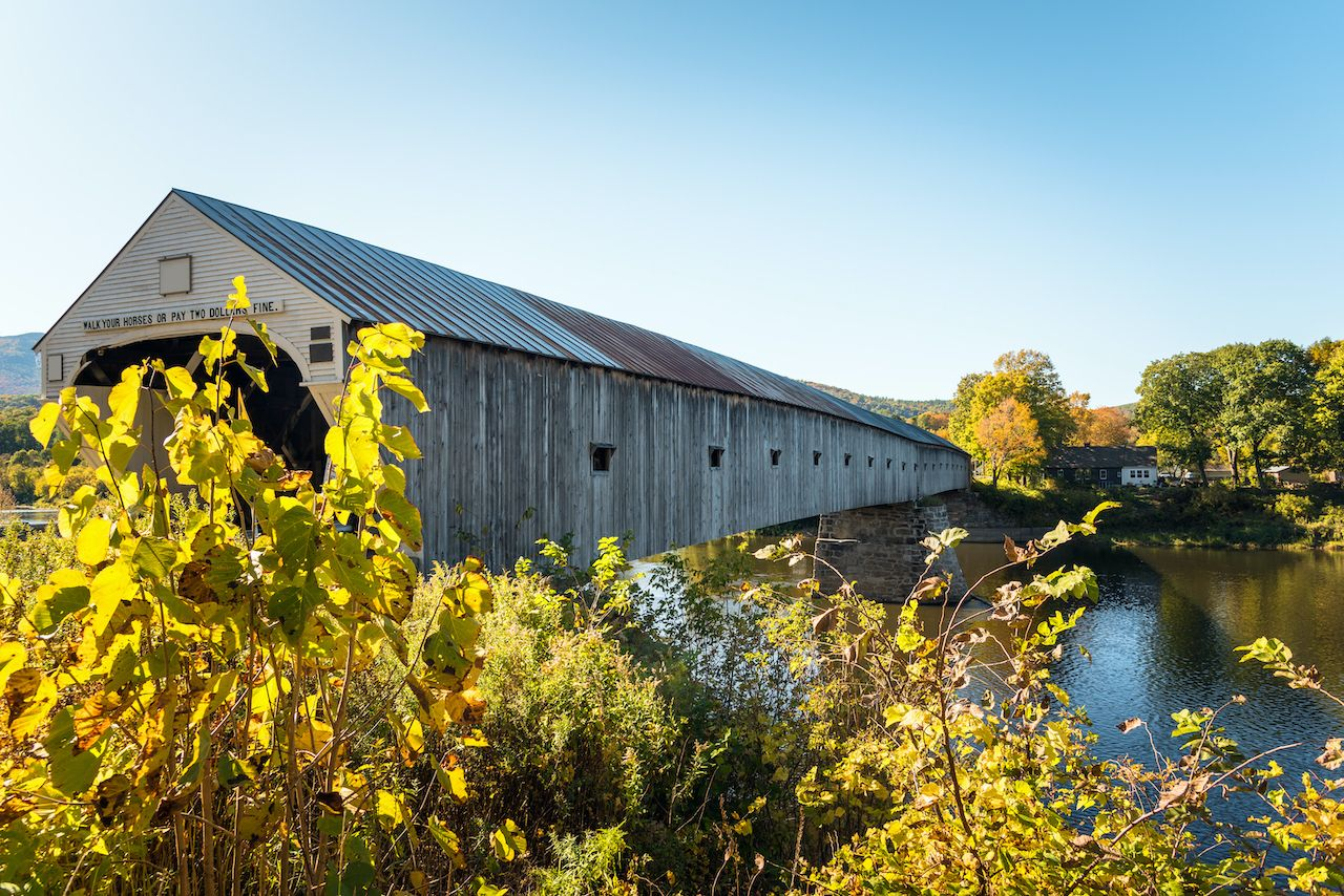 The Cornish-Windsor Bridge is one of the most romantic covered bridges in New England