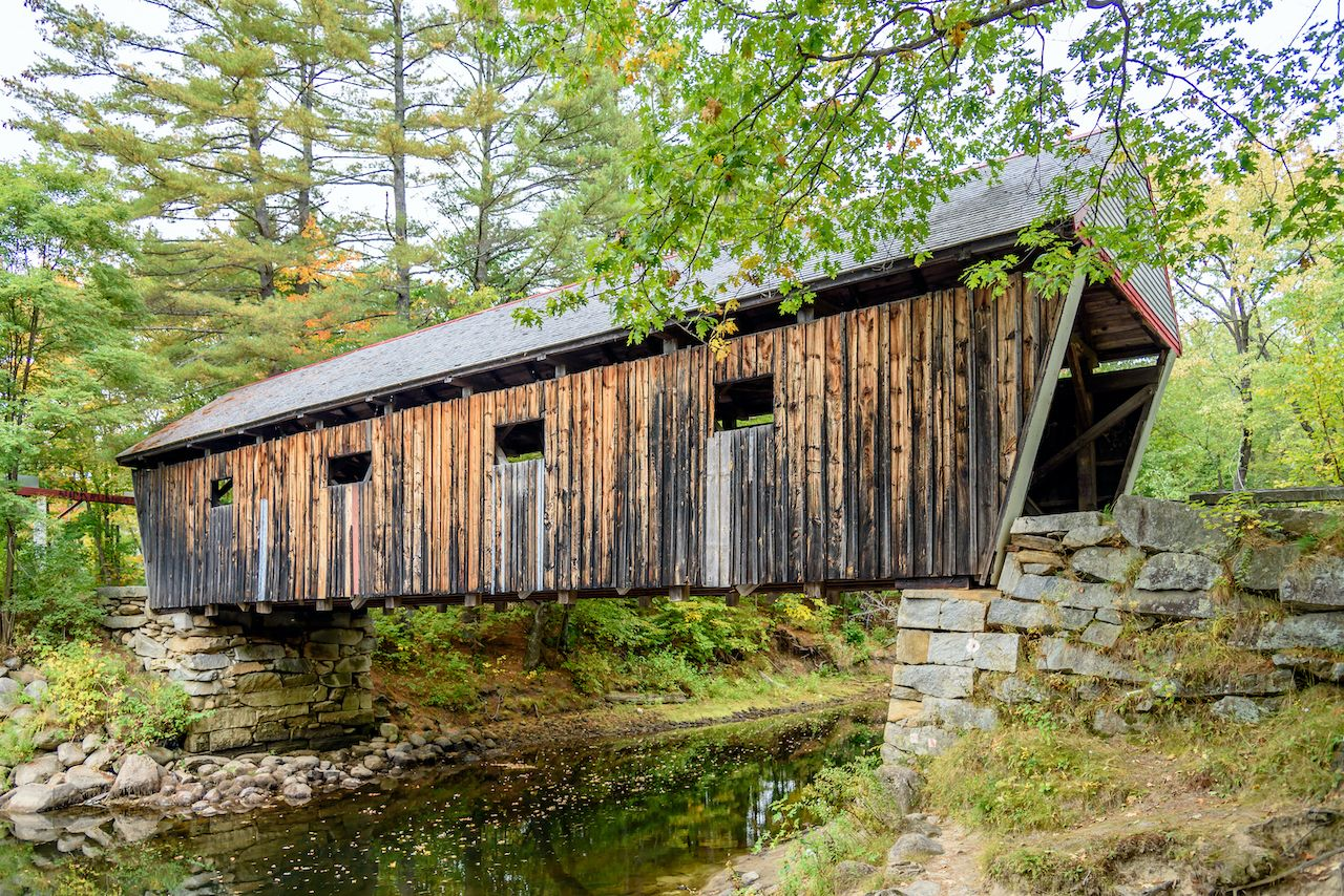 Lovejoy bridge, one of the most romantic covered bridges in New England