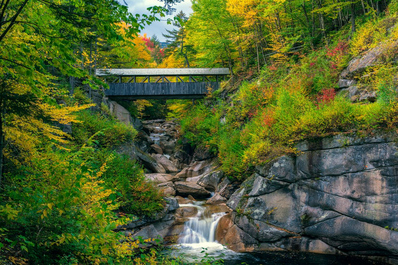 The Sentinel Pine Bridge is one of the best New Hampshire covered bridges