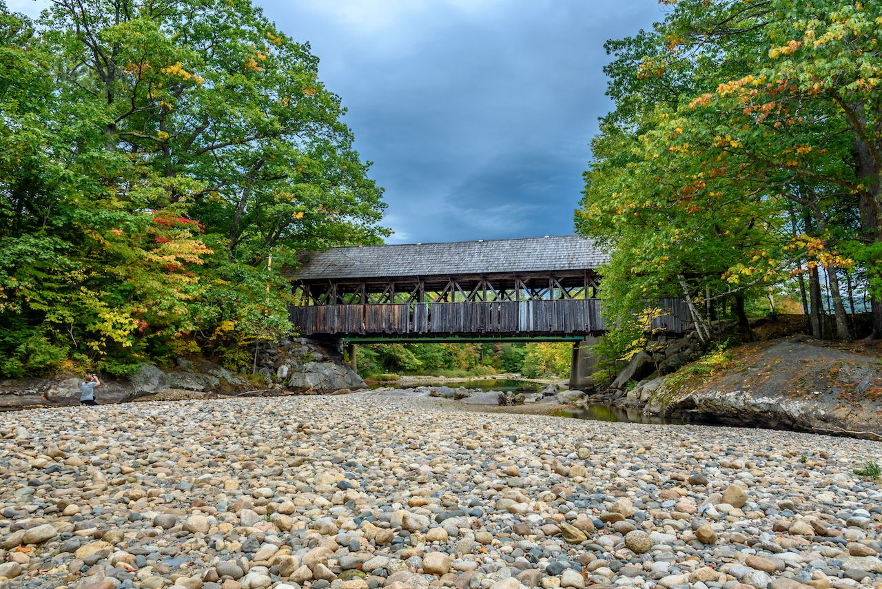 Sunday River Bridge is one of the best covered bridges in Maine