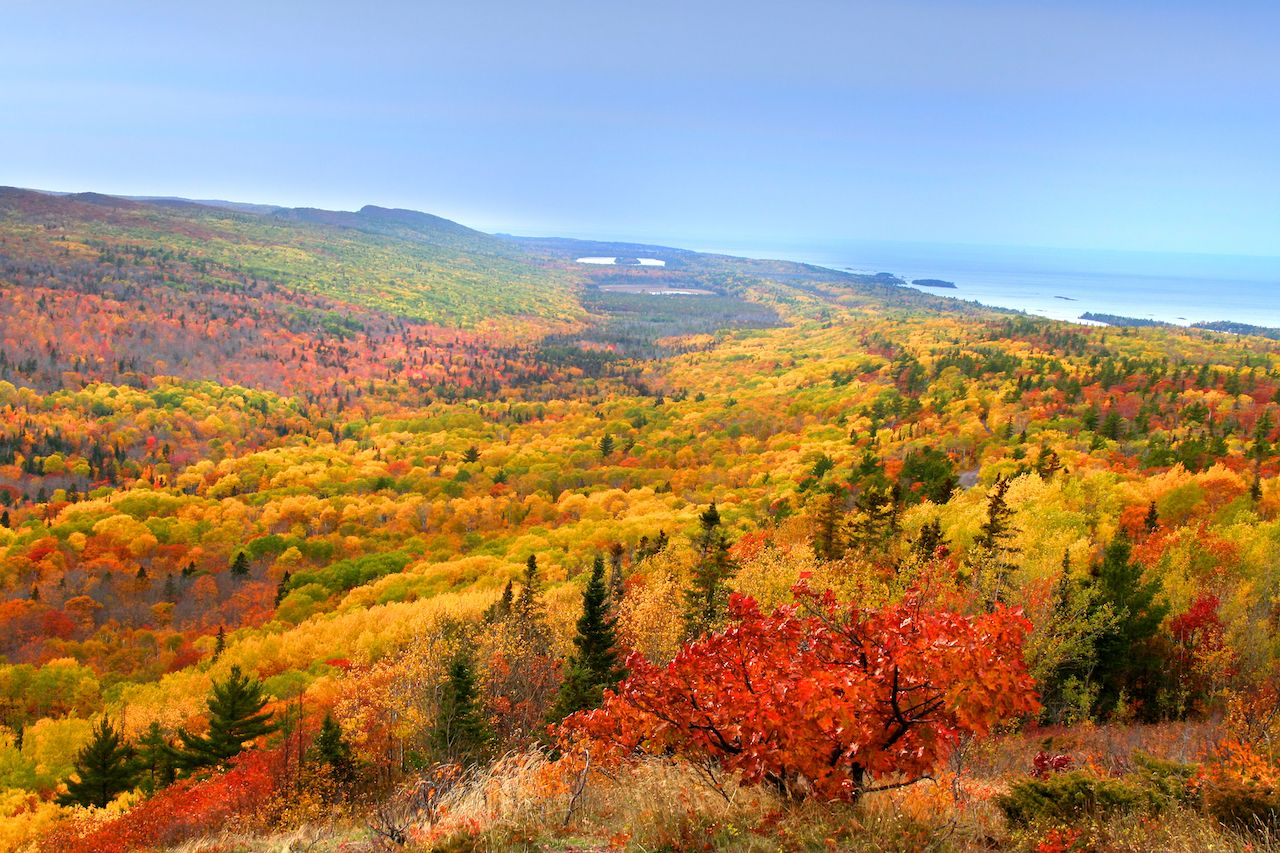 Bright fall colors in Michigan's Upper Peninsula