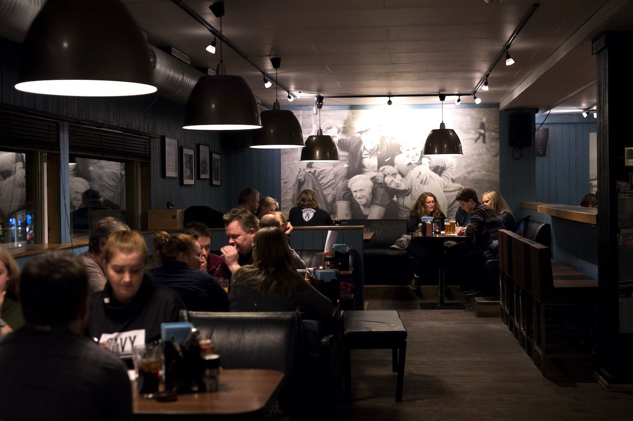 Inside the Svalbard bar for sale